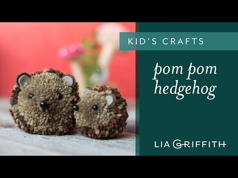 How To Make A Pom Pom Hedgehog