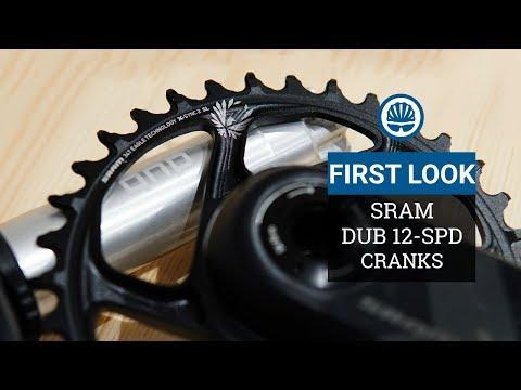 "SRAM Dub 12-Spd Cranks - Stiffer, Lighter & More Durable"""