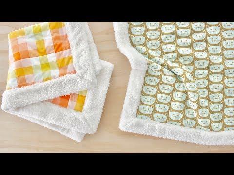 How to Make a Self-Binding Sherpa Fleece Blanket