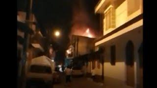 Sofocan incendio de dos viviendas en la zona 7