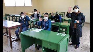 Estudiantes en El Alto retornan a las aulas de manera semipresencial
