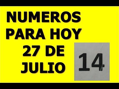 NUMEROS DE LA SUERTE PARA HOY 27 DE JULIO DEL 2021