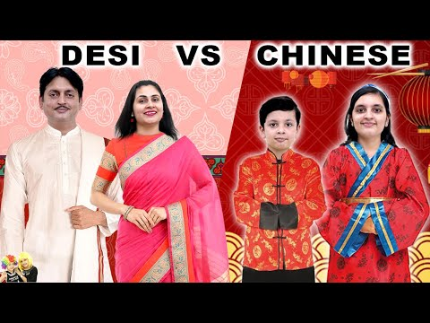 DESI VS CHINESE   Food Challenge with family   Favourite food   Aayu and Pihu Show