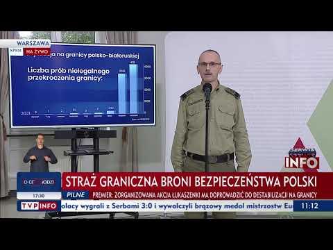 Generał Praga: Zatrzymaliśmy kobietę w ciąży, która prowadziła ze sobą trzynaścioro dzieci.