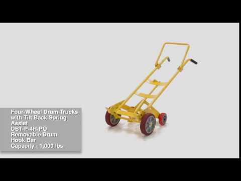 Four-Wheel Drum Trucks w/ Tilt-Back Spring Assist DBT-P-4R-MR