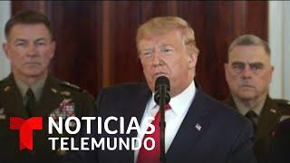 Mensaje de Trump sobre Irán alivia la preocupación de familias de soldados   Noticias Telemundo