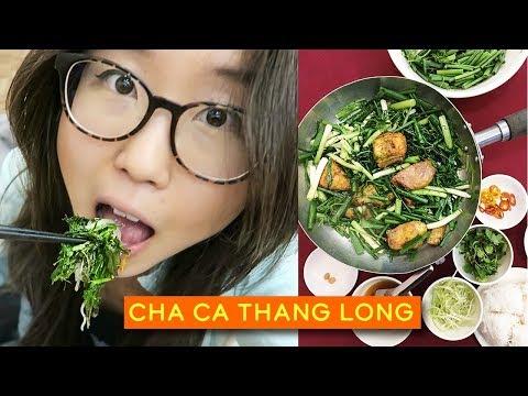 Vietnamese Turmeric Fish in Hanoi ♦ Cha Ca Thang Long