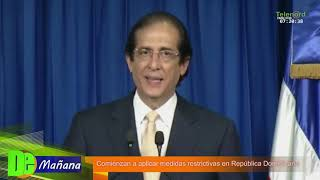 Comienzan a aplicarse las medidas restrictivas por el Coronavirus en Rep. Dominicana