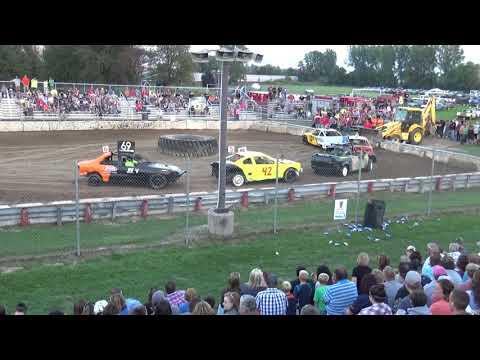 USA Figure Eight Championship 2018 (FWD cars) Heat 4 (Munger,Michigan)