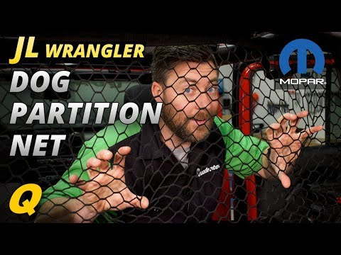 Mopar Dog Partition Net for 2018 Jeep Wrangler JL