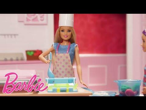 Barbie Deutsch 💖Kochen in einer Miniküche 💖Barbie Puppen 💖Barbie Videos