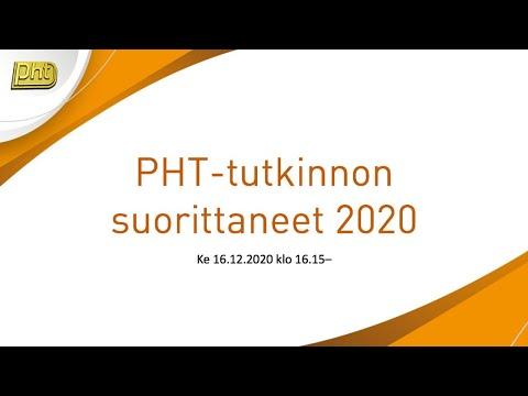 PHT-tutkinnon suorittaneet 2020