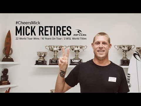 Mick Fanning announces his retirement from the World Tour | #CheersMick