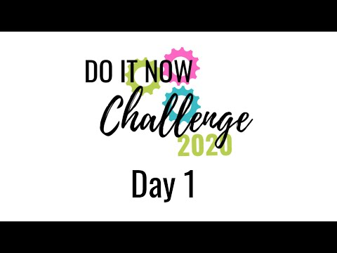 Survival Mom's DO IT NOW 2020 Challenge - Day 1
