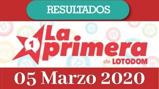 Loteria La Primera Resultado de hoy 05 de Marzo del 2020