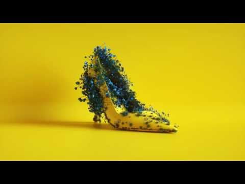 Bright yellow shoe sprouts flowers in new video for fashion brand Milly by Sagmeister & Walsh