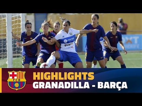[HIGHLIGHTS] FUTBOL FEM (Liga): Granadilla - FC Barcelona (1-0)