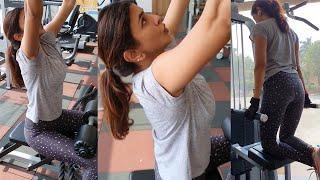 Lakshmi Manchu GYM Workout Video At Home | Manchu Lakshmi Latest Workout - RAJSHRITELUGU