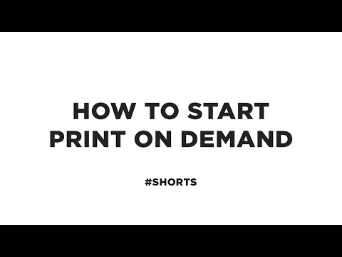 How to Start a Print on Demand Company #shorts
