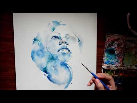 Speed Up Watercolor Portrait Painting - Ang Tapang Mo Nga