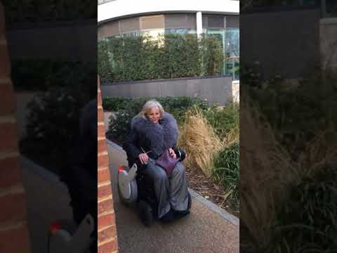 WHILL Wheelchair travels on thames towpath