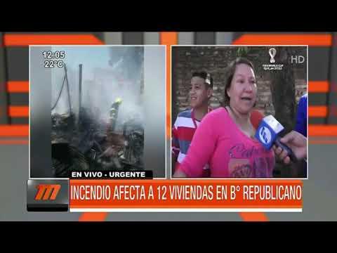 Incendio afectó a doce familias en el barrio Republicano