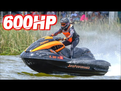 """600HP Jetski on 40PSI Pulls 1.7 G-Force """"The Golden Girl"""" (Fastest Girl on the Water!)"""