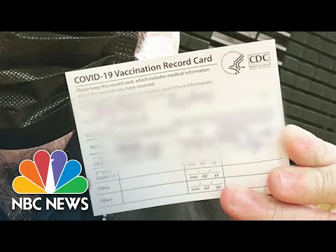 Scammers Work To Sell Fake Covid Vaccination Cards Online | NBC News NOW
