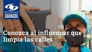 Conozca al influencer que limpia las calles y los corazones: José Molina