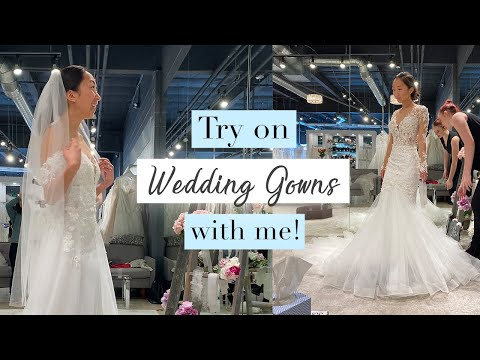 Try on Wedding Dresses with me! + WEDDING UPDATES