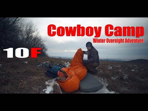10F (-12C) Stealth Cowboy Winter Camp Overnight Adventure