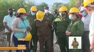 Cuba: Visita Ramiro Valdés planta procesadora de áridos en Villa Clara
