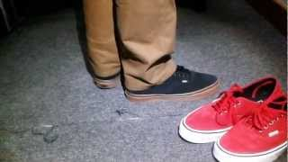 ccc08e9601c Vans Authentic Black Gum Suede - Fitting - YouTube