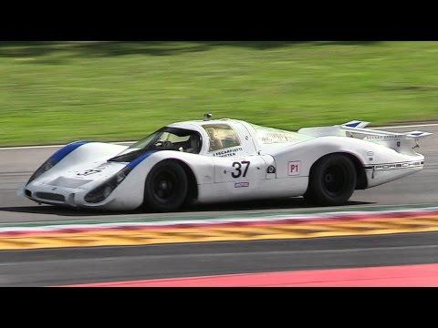 1968 Porsche 908 LH Flat-8 Engine Sound – Warm Up, Accelerations  Downshifts