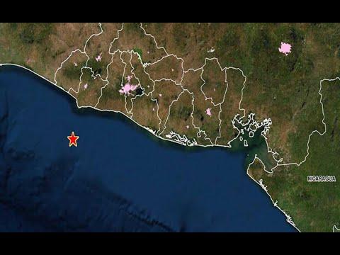 El Salvador: Reportan siete sismos en la madrugada