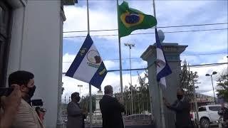 Hasteamento da Bandeira em comemoração pelos 178 anos da elevação de vila à categoria de cidade.