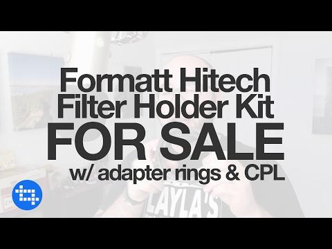 Formatt Hitech Filter Holder Kit for sale w/ adapter rings & CPL