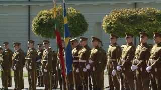 Prezidentė priima valstybinio vizito į Lietuvą atvykusius Švedijos Karalių Karlą XVI Gustavą ir...