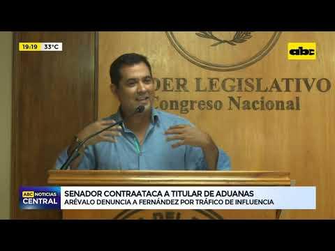 Senador contraataca a titular de Aduanas