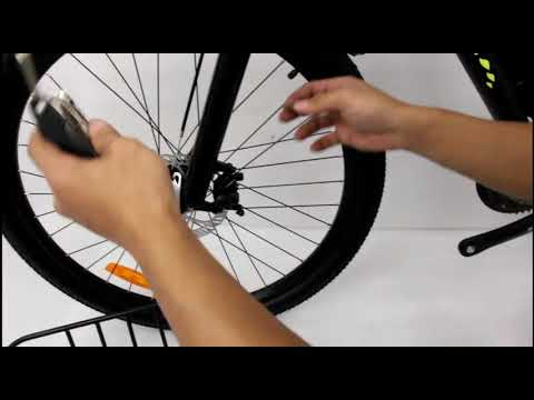 how to install front basket for mountain bike