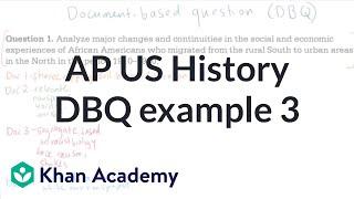 AP US history DBQ example 3