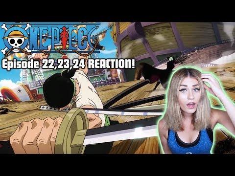 Zoro vs Hawkeye Mihawk! ONE PIECE Episode 22,23,24 REACTION!