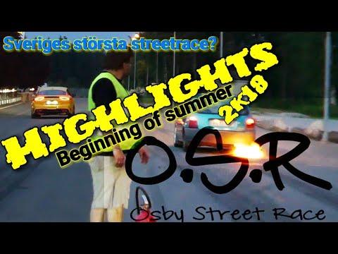 Highlights movie - beginning of summer - swedens biggest streetrace? - OSR