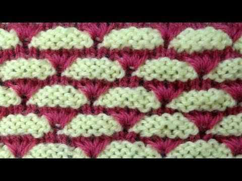 Рельефный узор для шапочки   Knitting stitches узор вязания спицами 54