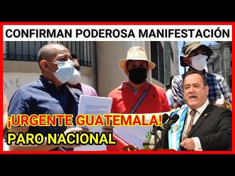 Resumen Guatemala, conferencia de Prensa: Renuncia Giammattei y Consuelo Porras Paro Nacional
