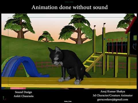 Cat Laughing 3d Animation   4 Legged   Quadruple   Creature   Animal