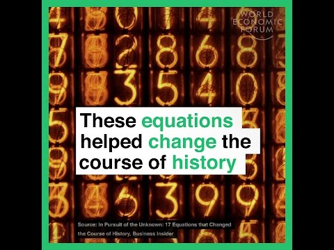 These equations helped change the course of history