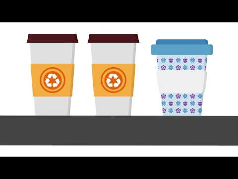 Coffee Cups Recycling Animation