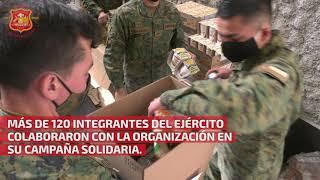 Cuartel General del Ejército apoyó al Rotary Club de Santiago preparando 800 cajas