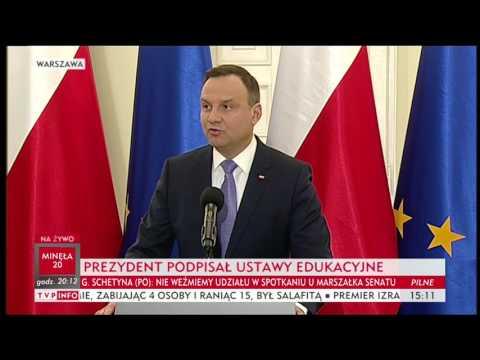 Prezydent Andrzej Duda podpisał ustawy edukacyjne